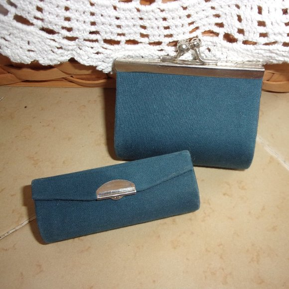 Vintage Coin Purse Matching Lipstick Tube